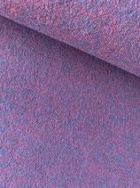 Merino-Strick, 2-farbig, fuchsia