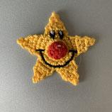 Applikation Stern mit roter Nase (groß)