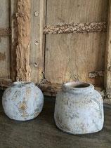 Stenen kruikjes / vaasjes Grey