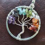 Lebensbaum Anhänger, Steine und Metallmix