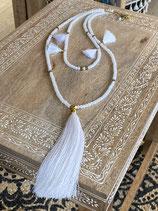 Halskette 2 reihig mit Seidentassel SALE