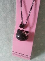 Halskette mit Anhänger, Modeschmuck, Damen Halsketten, Hello Kitty, black