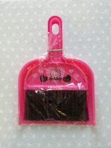 Tisch Kehrschaufel und Pinsel, Kehrgarnitur, Handbesenset, Handfeger Set 2 teilig, Hello Kitty, pink