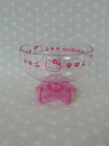 Eisbecher, Eis Schale transparent, Hello Kitty, pink