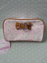 Kosmetiktasche, Beuty Bag, Kulturbeutel, kleine Tasche, Clutch, Hello Kitty, floral