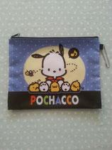 Pochacco, Kosmetiktasche, Beuty Bag, Kulturbeutel, kleine Tasche, Clutch, Sanrio, mix L