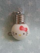 Schlüsselanhänger, Handtaschen Charm, Anhänger, Hello Kitty, glow