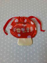 Beutel mit Zugband, Stoffbeutel, Säckchen, Hello Kitty, mushroom XS