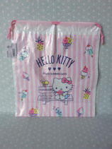 Beutel mit Zugband, Stoffbeutel, Turnbeutel, Hello Kitty, summer M