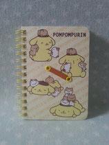 Pompompurin, Notizbuch, Spiralblock, Notizheft, Sanrio, smile