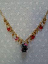 Halskette mit Anhänger, Modeschmuck, Damen Halsketten, Hello Kitty, devil stone
