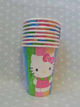 Partybecher, Einweg Becher, Hello Kitty, rainbow