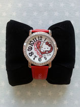 Armbanduhr, Damen Uhr, Hello Kitty, rot