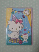 Charmmy Kitty, Klappkarte, Glückwunschkarte, Einladungskarte, Sanrio, circus