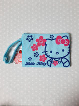 Kosmetiktasche, Beuty Bag, Kulturbeutel, kleine Tasche, Clutch, Hello Kitty, hibiscus