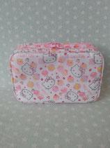 Kosmetiktasche, Beuty Bag, Kulturbeutel, kleine Tasche, Clutch, Hello Kitty, cake eckig