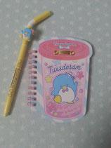 Tuxedosam, Notizbuch mit Kugelschreiber, Spiralblock, Notizheft, Sanrio, shake