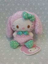 Kuscheltier, Stofftier, Plüschfigur, Hello Kitty, XS rabbit rosa