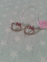 Ohrringe, Ohrstecker, Modeschmuck, Hello Kitty, diamond pink