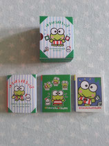 Keroppi, Notizzettel Box, Notizblock 3er Set, Sanrio
