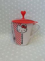 Tassen, Keramik Tasse, Kaffeebecher, Hello Kitty, stripe