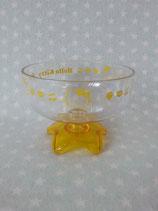Eisbecher, Eis Schale transparent, Hello Kitty, gelb