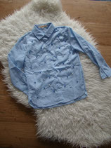 Blouse blue pearls