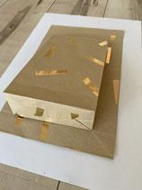 Papiertüte Nature mit Gold
