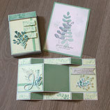 Hochzeitskarte mit Geschenkbox