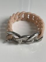 Nr 7446 kunstoog/metaal armband