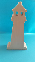 Holzfigur Leuchtturm