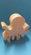 Holzfigur Oktopus