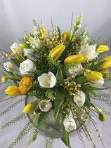 Frühlingsstrauß gelb / weiß