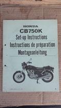 Honda CB 750 K Montageanleitung 1979