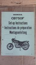 Honda CB 750 F Montageanleitung 1980