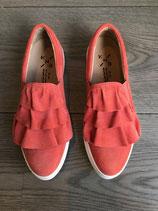 SALE Leder-Sneaker mit Rüsche