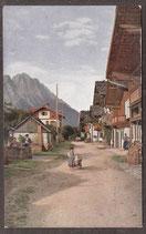 82467   (W-8100)   -Frühlingsstraße Blick auf die Zugspitze-   (PK-00413)