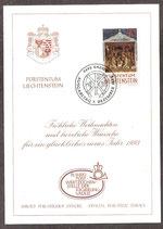 1051 (Mi.Nr.) auf Weihnachtskarte  (LI)