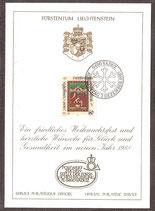 932 (Mi.Nr.) auf Weihnachtskarte  (LI)