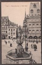 5429.   (W-5500)   Trier   -Petrus-Brunnen u. rotes Haus-   (PK-00099)