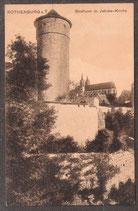 91541    (W-8808)   Rothenburg o.T.  -Strafturm m. Jacobs-Kirche-   (PK-00232)