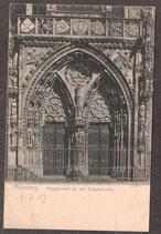 904..   (W-8500)   Nürnberg   -Hauptportal an der Frauenkirche-   (PK-00333)