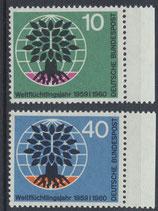 BRD 326-327 postfrisch mit Bogenrand rechts