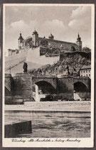 970...   (W-8700)   Würzburg   -Alte Mainbrücke u. Festung Marienberg-   (PK-00166)