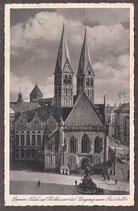 28...   (W-2800)   Bremen    -Blick auf Rathausportal, Eingang zum Ratskeller-   (PK-00363)