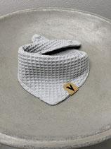 Lätzchen Waffelpique*Heart grey*