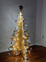 3D-Tannenbaum Höhe 110 cm Edelrost