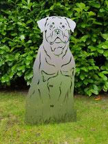 Figur Gartenfigur Rottweiler