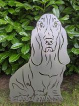 Figur Gartenfigur Basset Hound