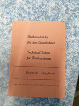 Fachausdrücke für den Eisenbahner (1945) - Technical Terms for Railroadmen